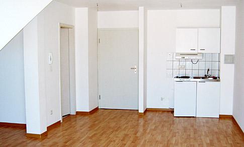 ein-zimmer-appartement: küche richtig einräumen. wie? (leben